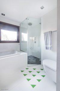 Salle de bain verte-Chalet Megève-Pierre Brac