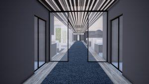 Image 3D-Bureaux Chavanod-Morgane Claudon TEMA-couloir