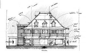 5-Croquis Appartement réhabilitée Les Contamines-Montjoie Tema Architectes