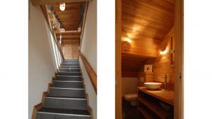 07-escalier et salle de bain Chalet Nancy-sur-Cluses Tema Architectes