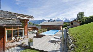 02-Mont-Blanc et extérieur Guest House Domancy Tema Architectes