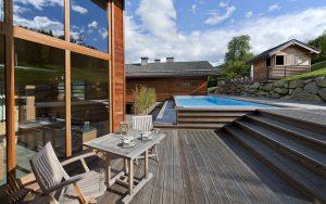 03-Terrasse extérieure Guest House Domancy Tema Architectes