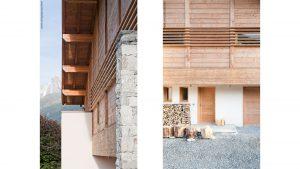 09-Façade Nord détail Chalet Les Houches Tema Architectes