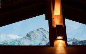 14-Détail vue Mont-Blanc fenêtre Chalet Les Houches Tema Architectes