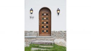 15-Porte d'entrée Chalet Le Véry Henri-Jacques Le Même Megève Tema Architectes