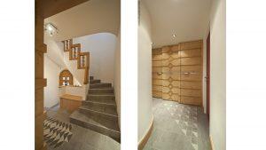 17-Paliers escalier Chalet Le Véry Henri-Jacques Le Même Megève Tema Architectes
