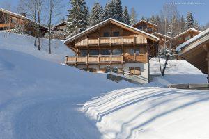 03-Extérieur jour neige Chalet Saint-Gervais-les-Bains Tema Architectes