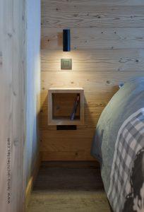 08-Détail chambre Appartement Les Contamines-Montjoie - Tema Architectes