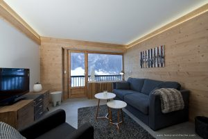10-Salon Appartement Les Contamines-Montjoie - Tema Architectes