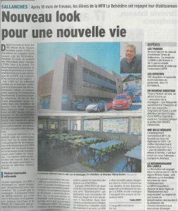 Article Le Dauphiné MFR Le Belvédère Sallanches Tema Architectes