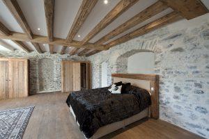 05-Chambre Maison forte rénovée Passy Tema Architectes