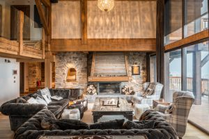 26-Salon Maison forte rénovée Passy Tema Architectes