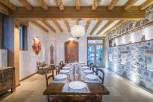 31-Salle à manger Maison forte rénovée Passy Tema Architectes