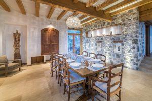 32-Salle à manger Maison forte rénovée Passy Tema Architectes