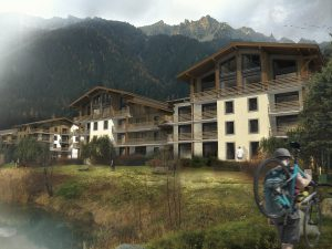 02-Vue 3D jour Resort La Cordée Chamonix Mont-Blanc Tema Architectes